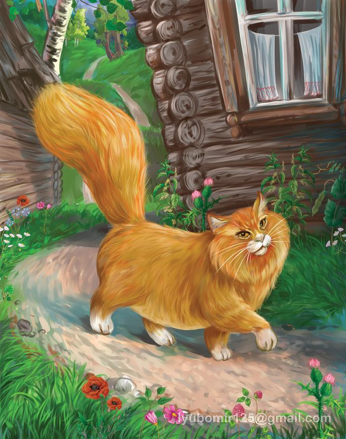 Сказочная картинка кота