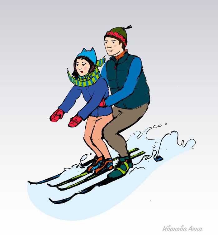 Новым годом, лыжи веселые картинки