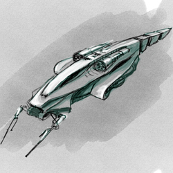Concept Art: Another World_spaceship_03