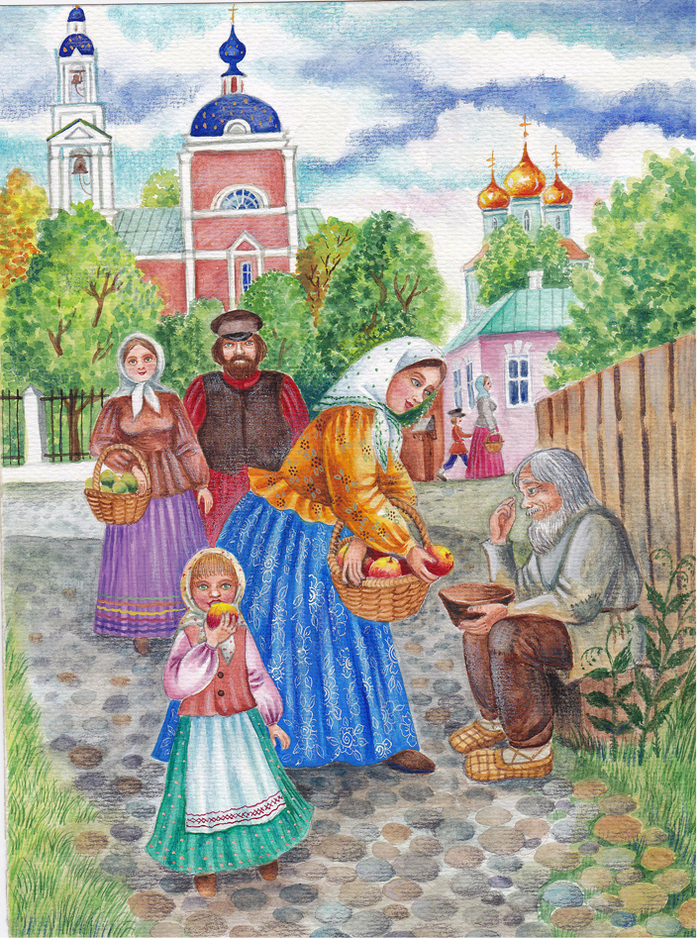 Картинки яблочного спаса на руси
