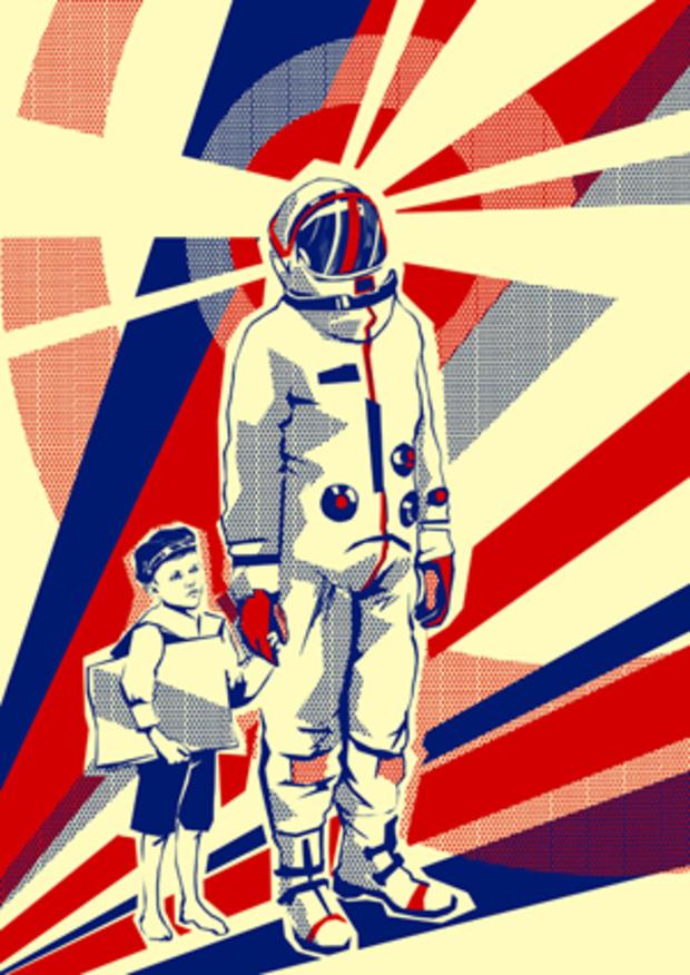 retro astronaut posters - 500×707