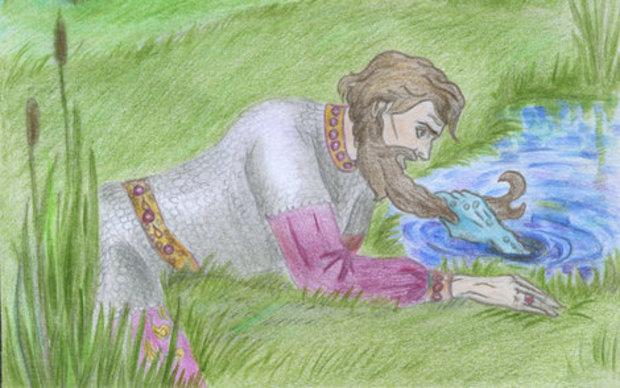 рисунок сказке морской царь и василиса премудрая